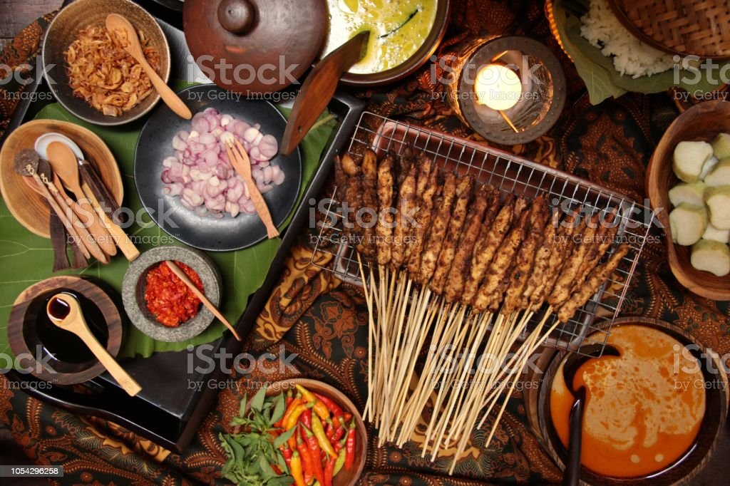 Sate Ayam Blora, the Traditional Chicken Satay Dish from Blora Regency in Central Java stock photo