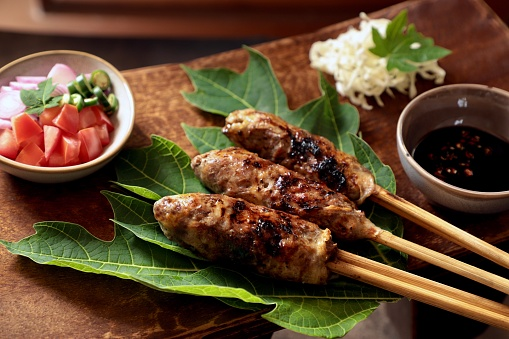 Sate Buntel The Minced Lamb Satay From Solosurakarta Central Java Stock  Photo - Download Image Now - iStock