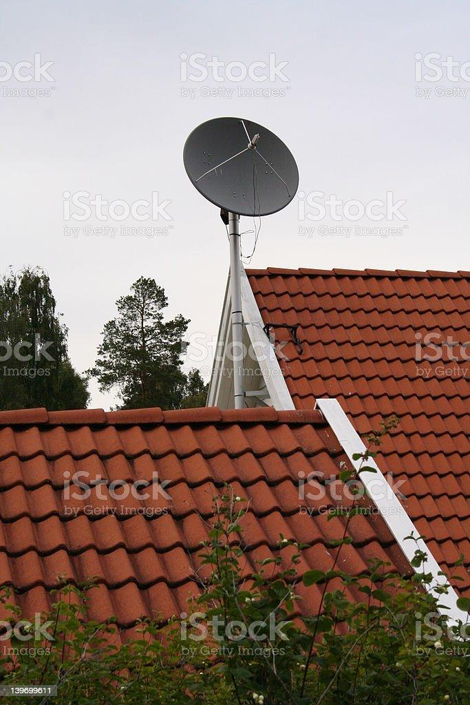 satelite dish stock photo