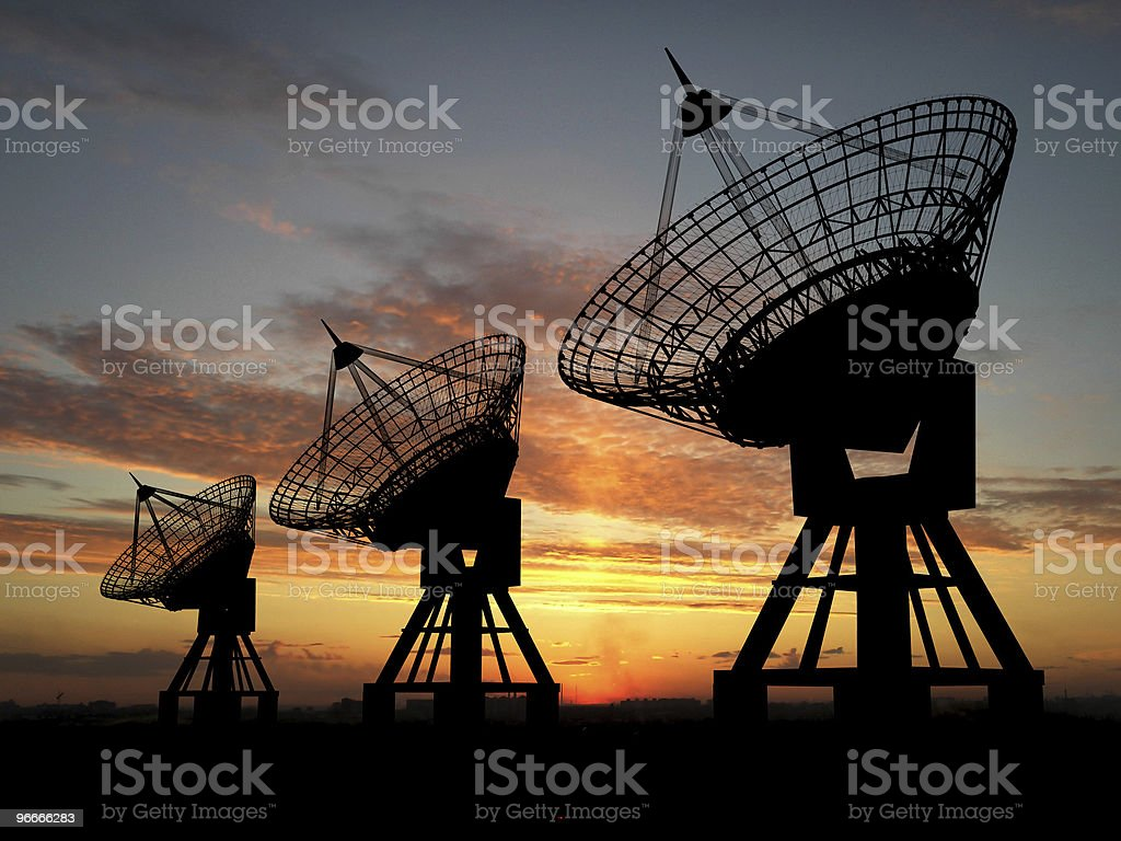 Satelite Dishes royalty-free stock photo