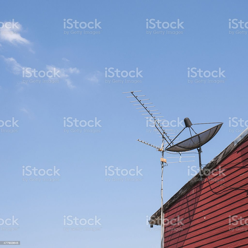 satelite is attached royalty-free stock photo