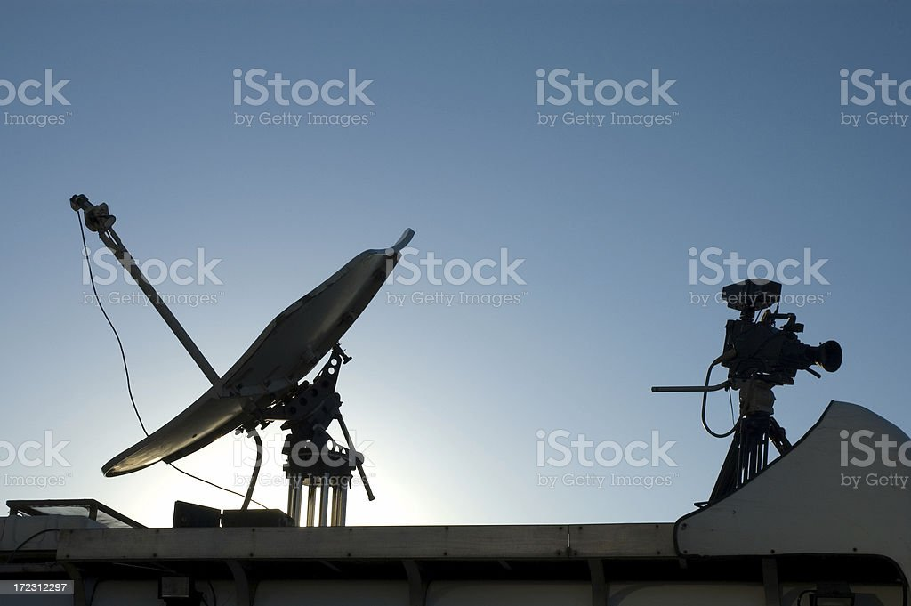 satellite and camera royalty-free stock photo