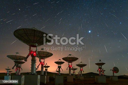 Satellite antenna array under the meteor shower