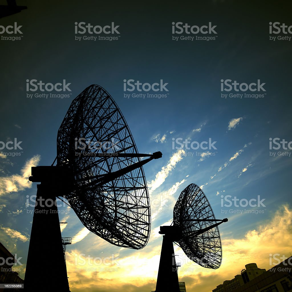 Satellite Antenna stock photo