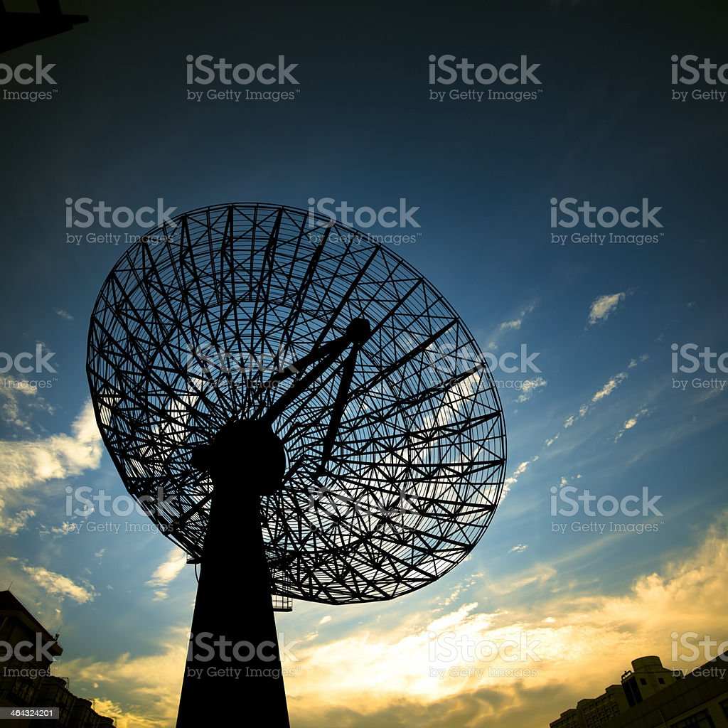 Satellite Antenna royalty-free stock photo