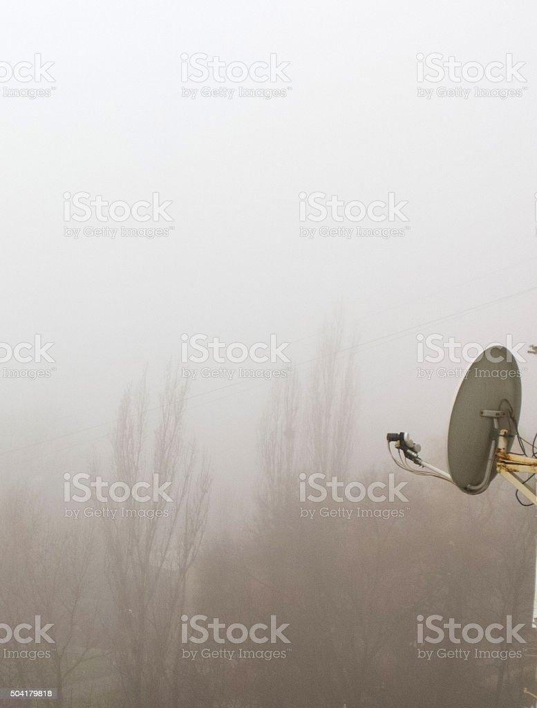Satellite antenna. stock photo