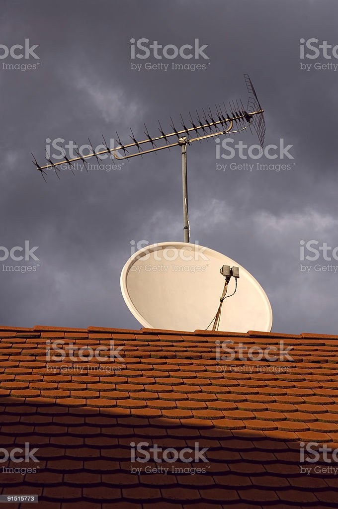Satellite antenna royalty-free stock photo