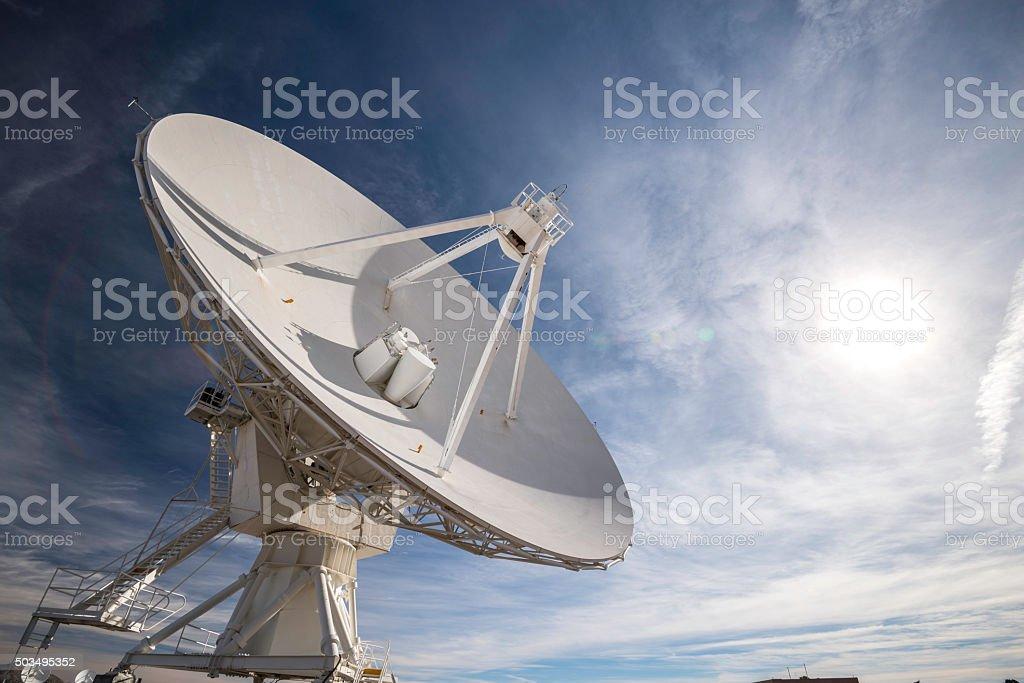 Satelliten-VLA Auswahl - Lizenzfrei Abenddämmerung Stock-Foto