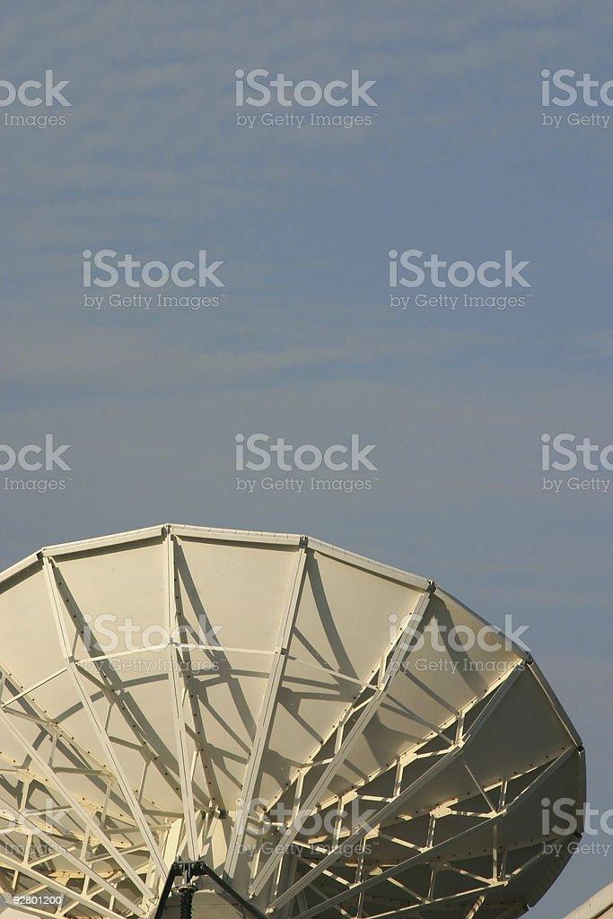 satellite beam stock photo