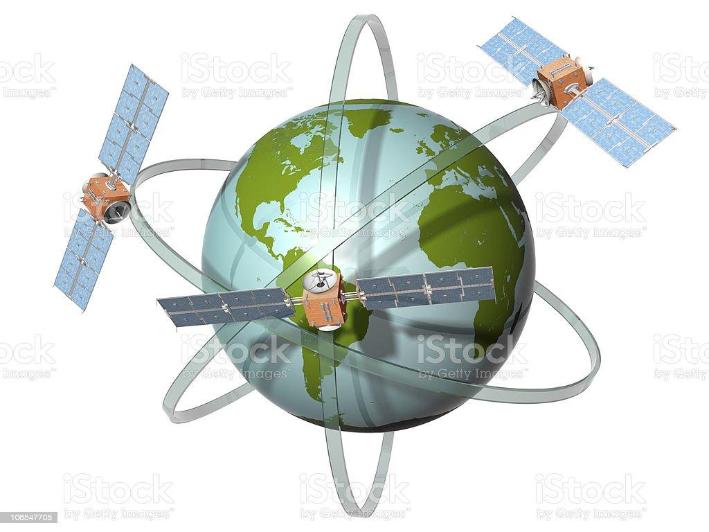 Satellite communication stock photo