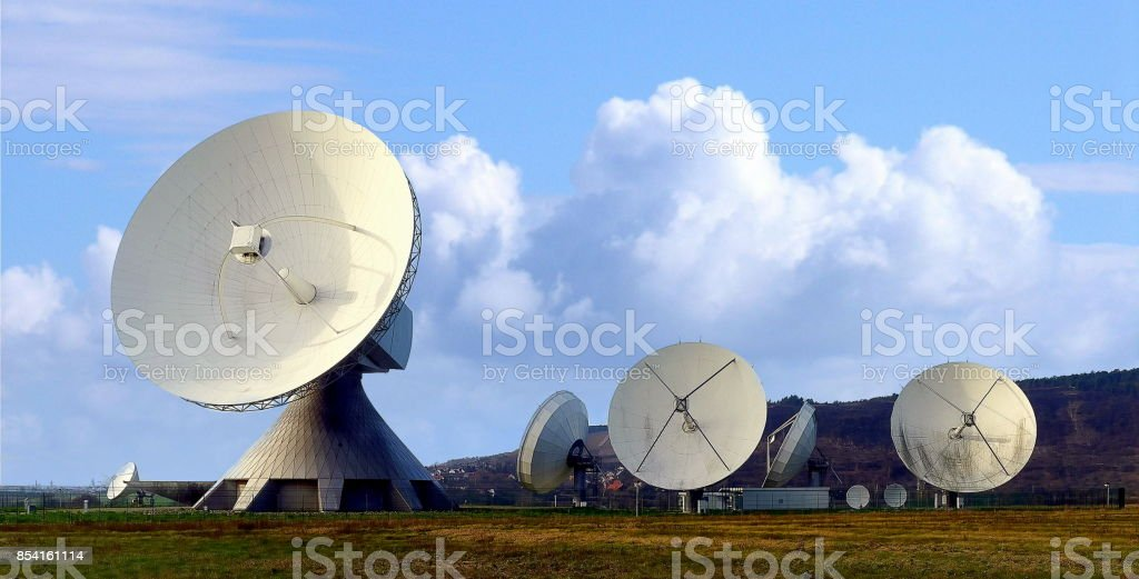 Satellite Communications Station stock photo
