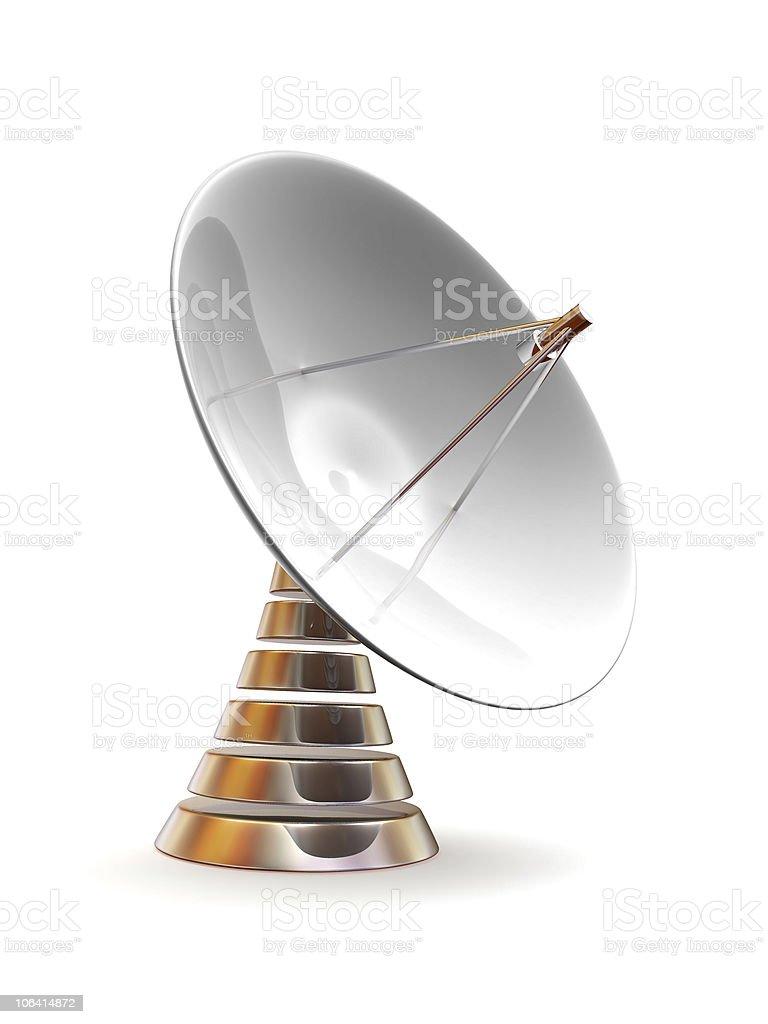 Satellite dish. 3d royalty-free stock photo