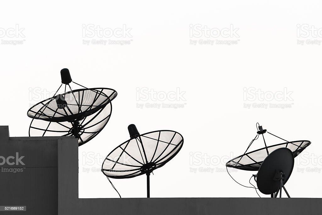 satellite dish antenna stock photo