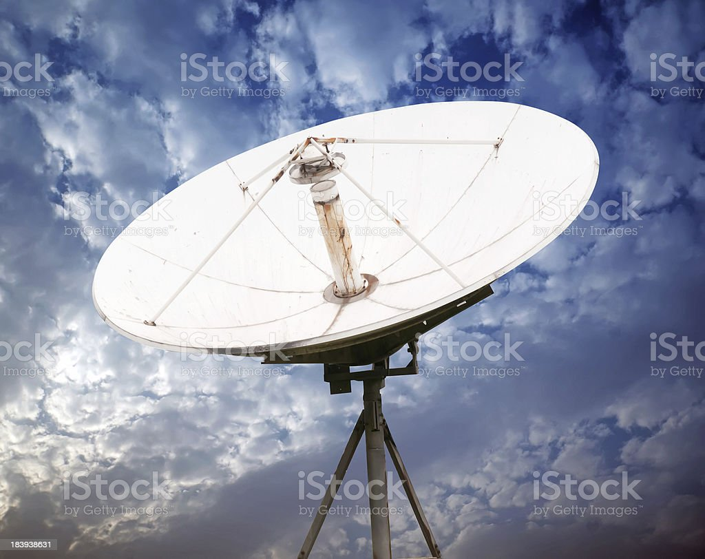 satellite dish antennas royalty-free stock photo