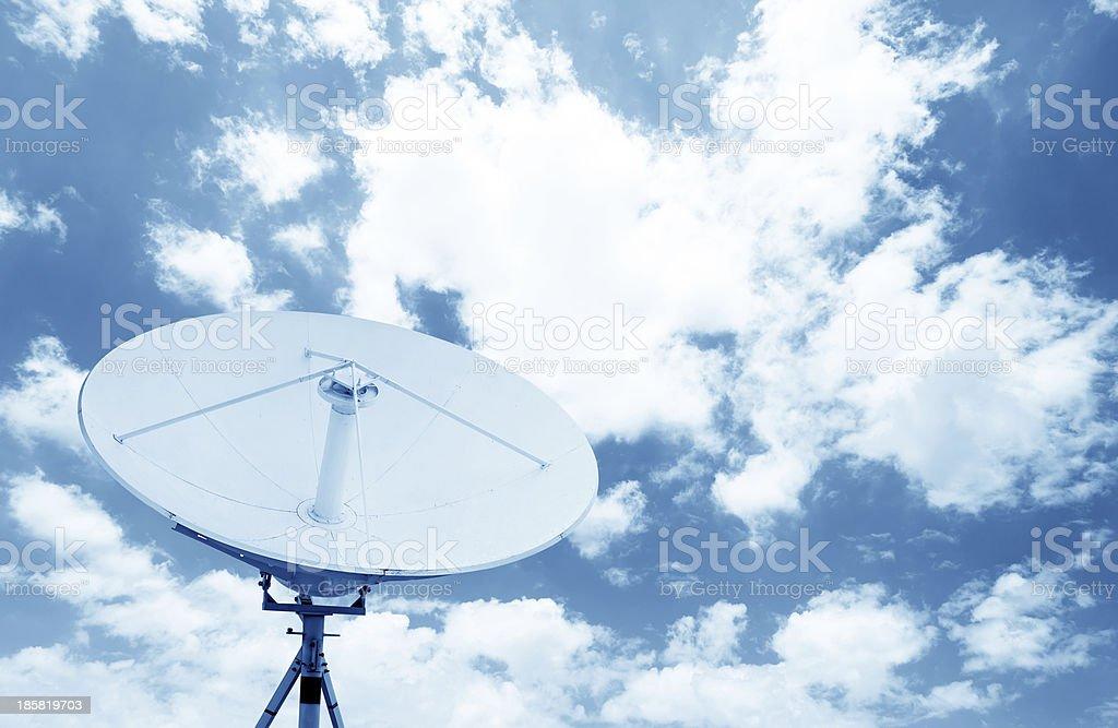 satellite dish antennas under sky royalty-free stock photo