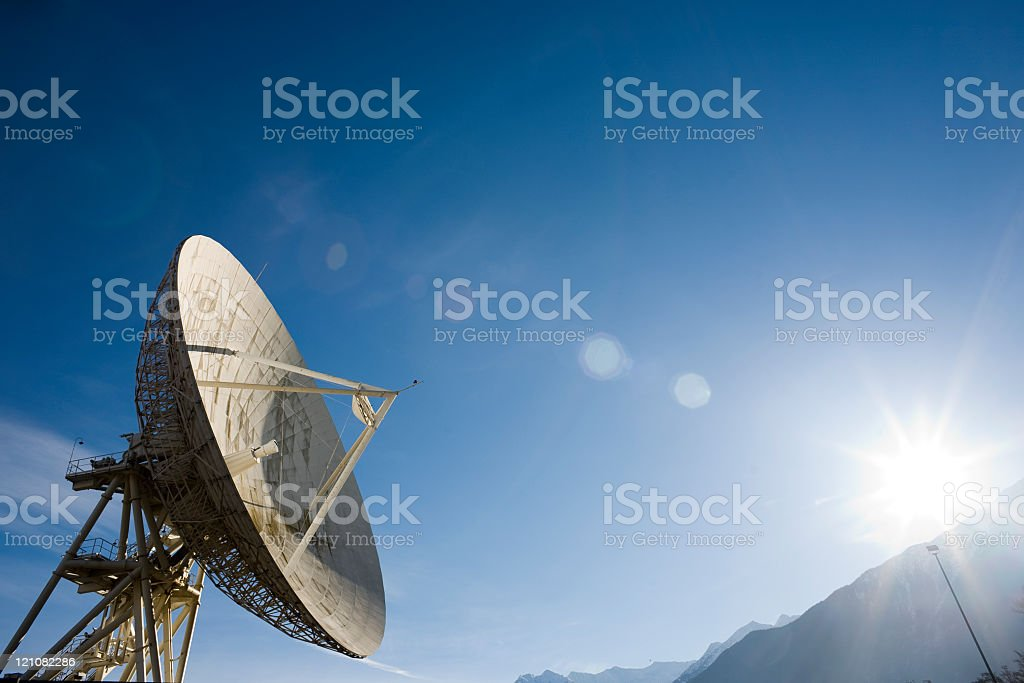 Satellite dish for Telecommunication stock photo