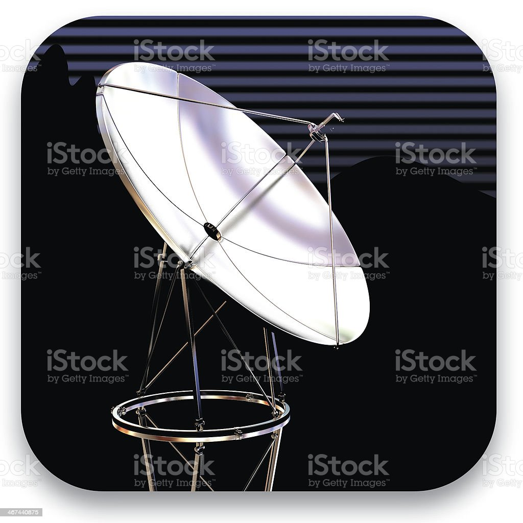 Satellite dish icon royalty-free stock photo