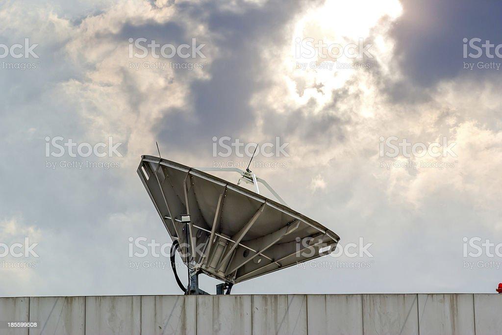 satellite dish near chonburi thailand royalty-free stock photo