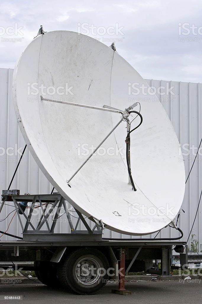 Satellite dish on truck royalty-free stock photo