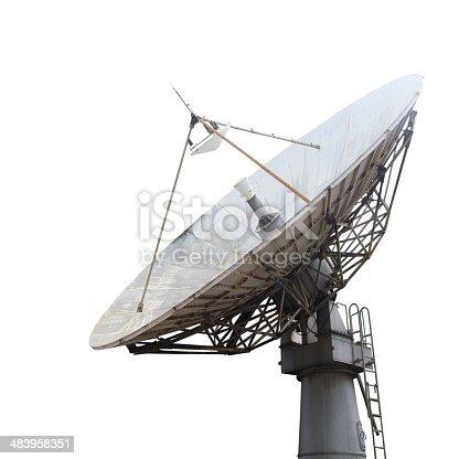 Satellite dish , Isolated on white