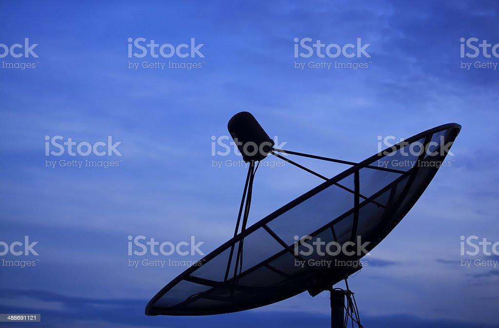 Satellite dish royalty-free stock photo