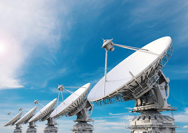 Antena parabólica  - foto de stock