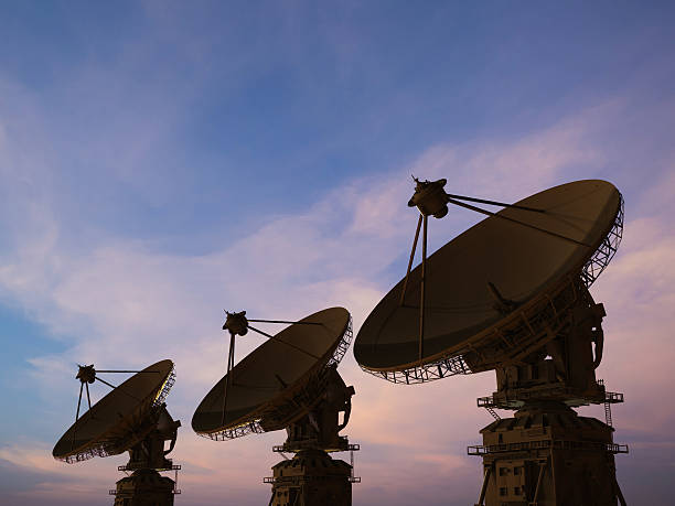 satellite dish - space exploration stock photos and pictures