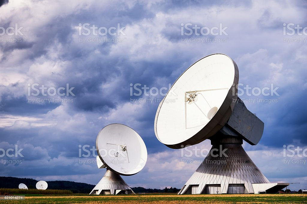 satellite dish - radio telescope stock photo