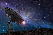 istock satellite dish under a starry sky 497705792
