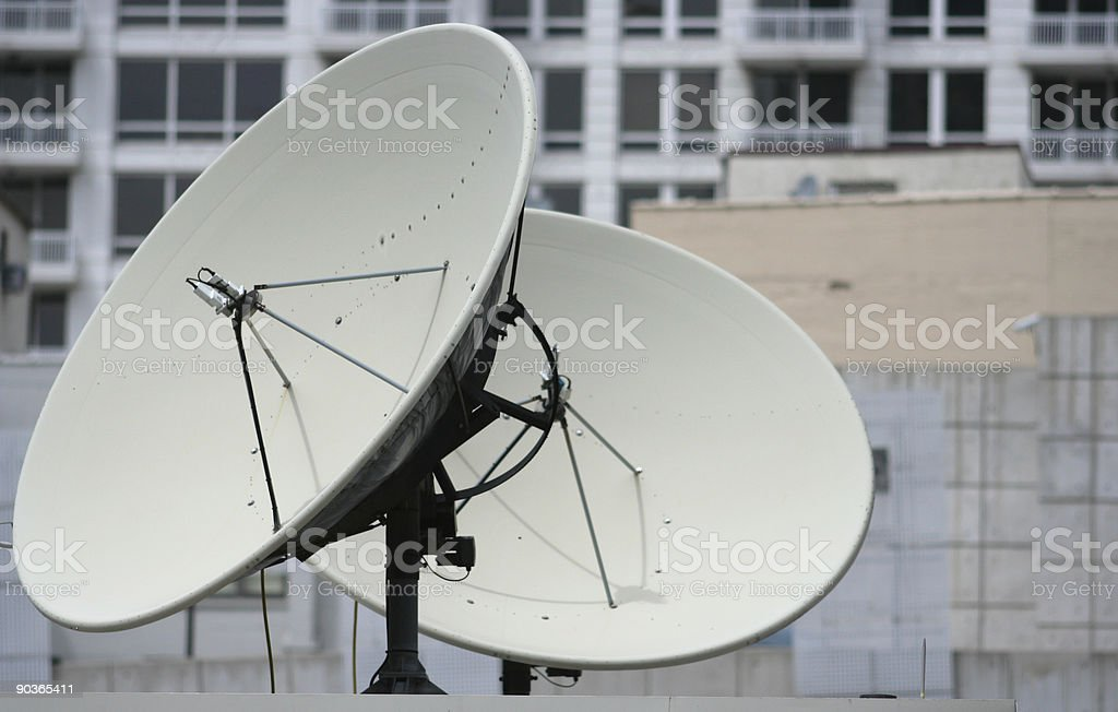 Satellite Dishes   royalty-free stock photo