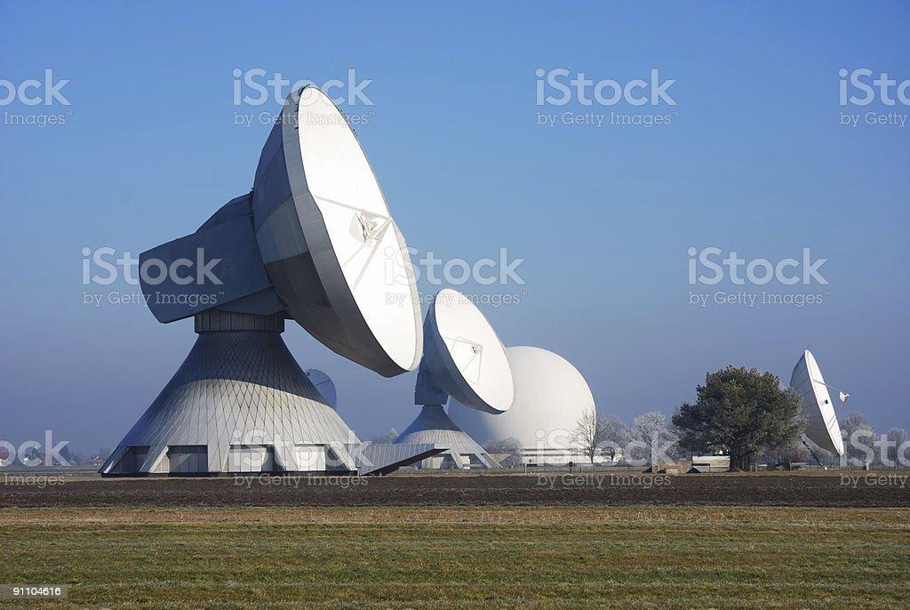 satellite dishes  Antenna - Aerial Stock Photo