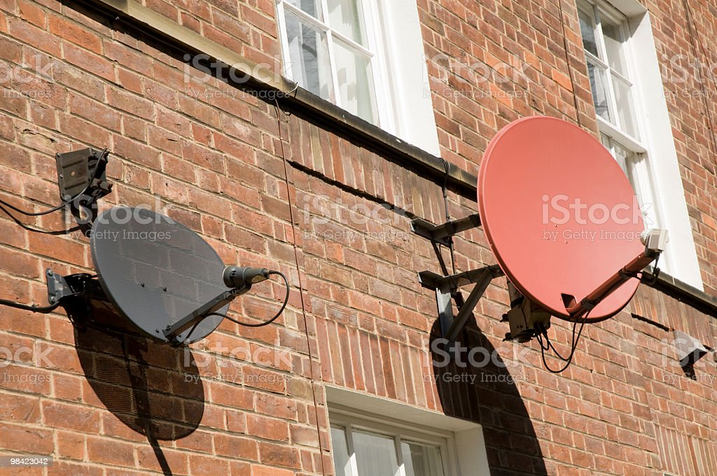 Piatti satellitare foto stock royalty-free