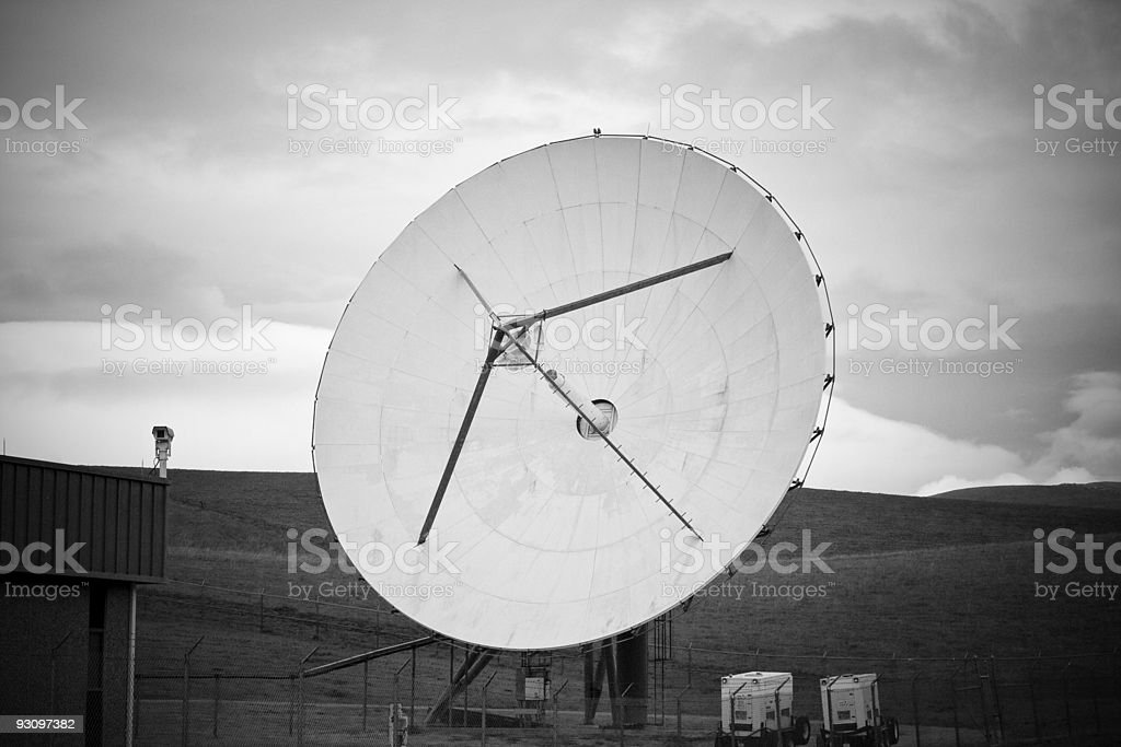 Satellite in the Country royalty-free stock photo
