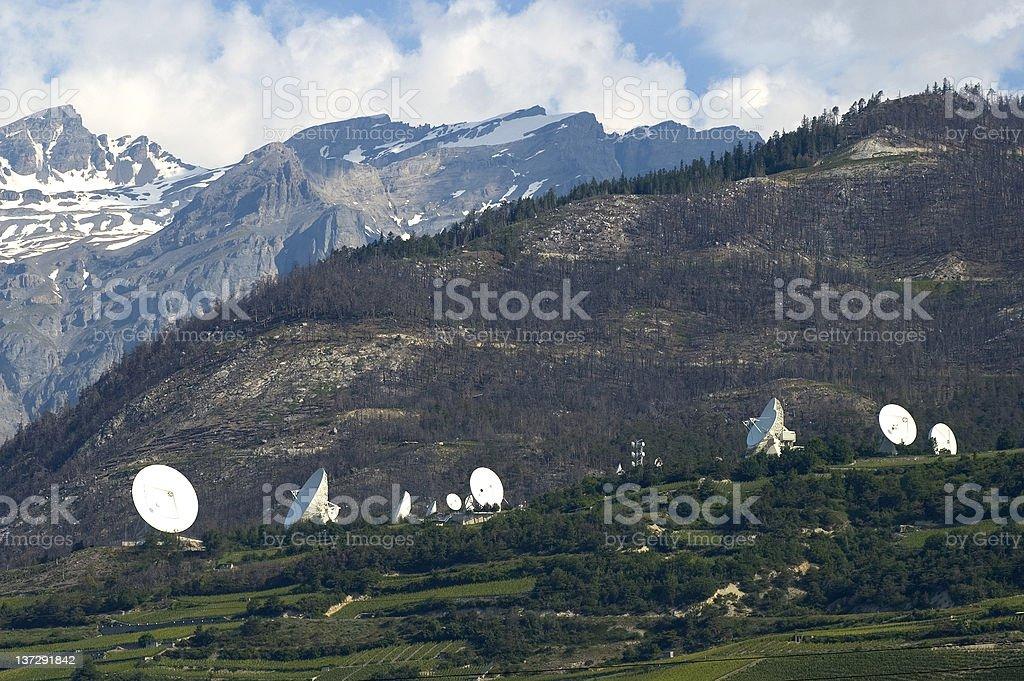 Satellite Land Earth Station stock photo
