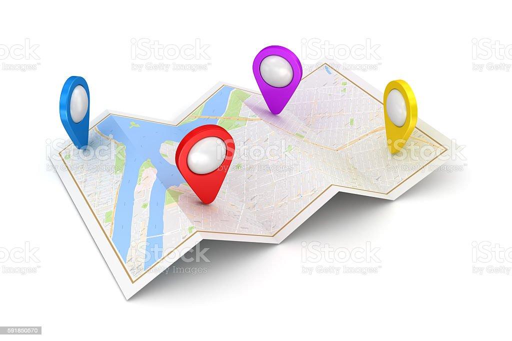GPS satellite navigation concept - Photo