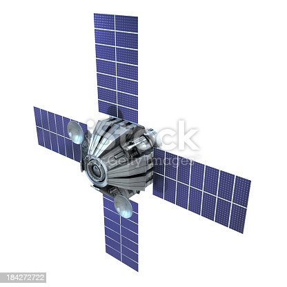 satellite isolated on white