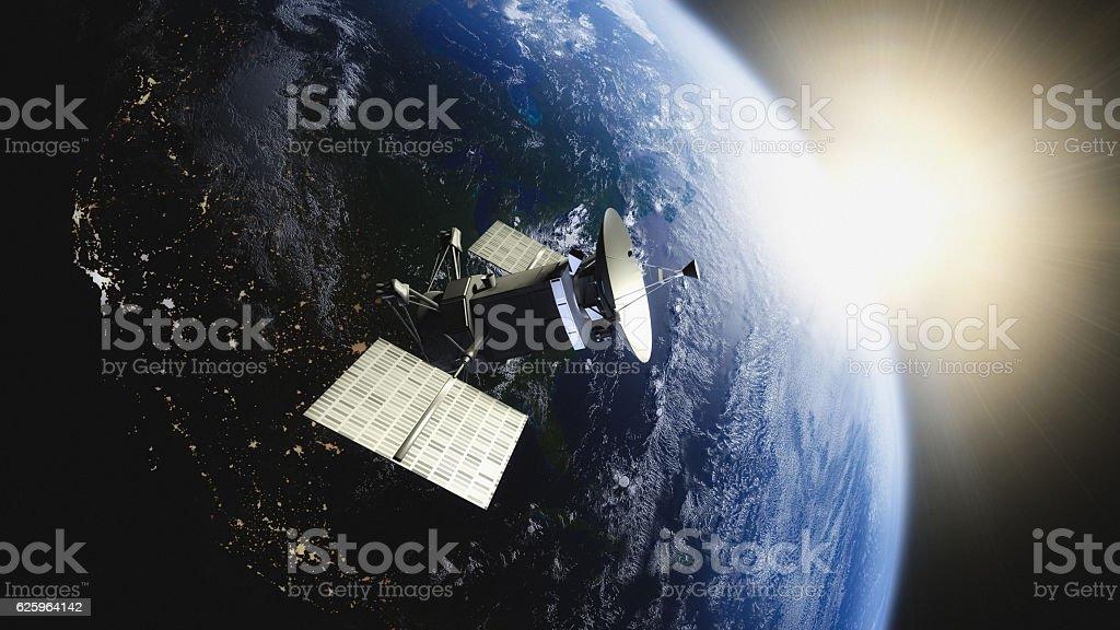 Satellite Planet stock photo