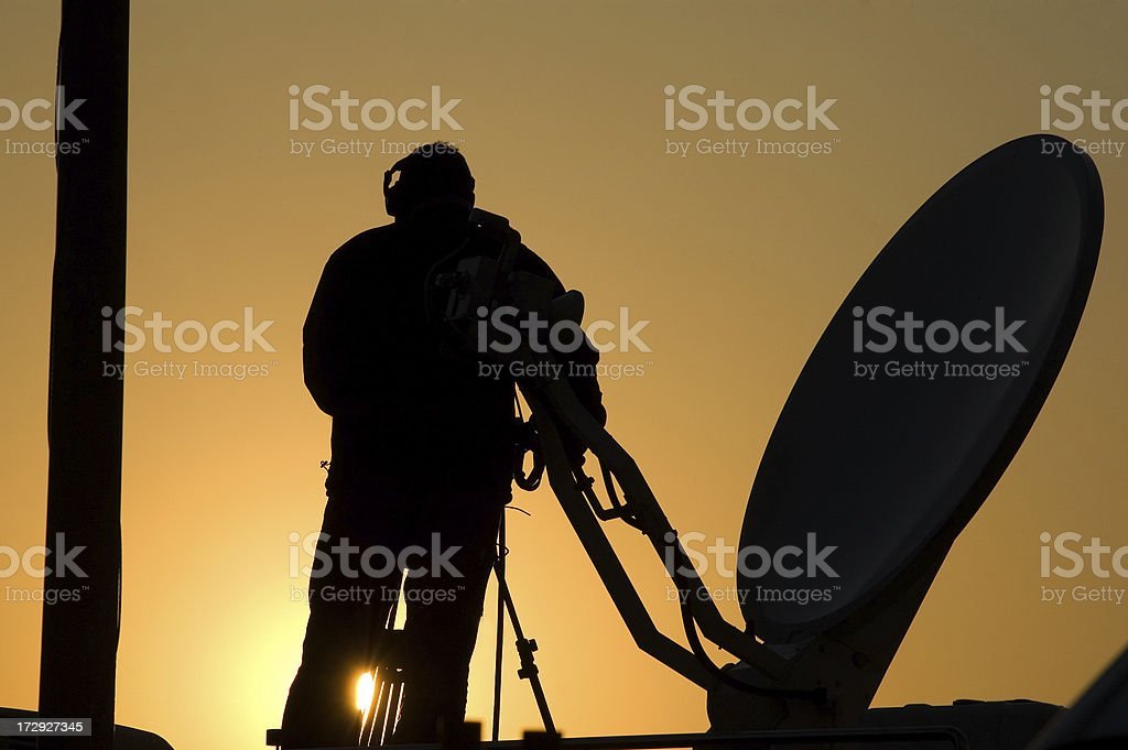 satellite silhouette royalty-free stock photo