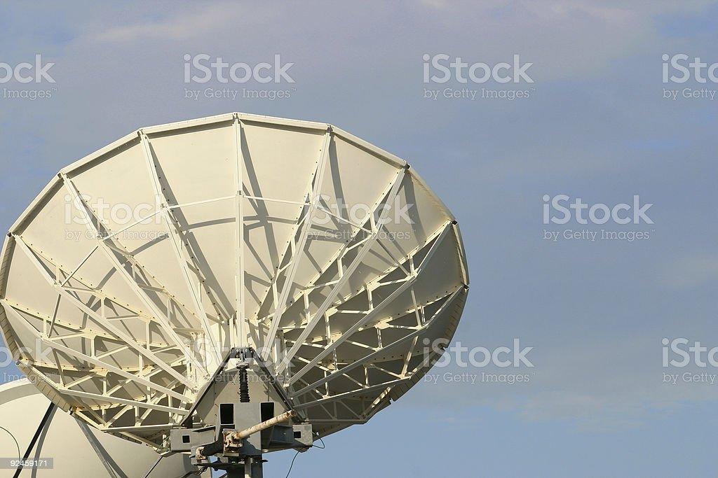 satellite transmission stock photo