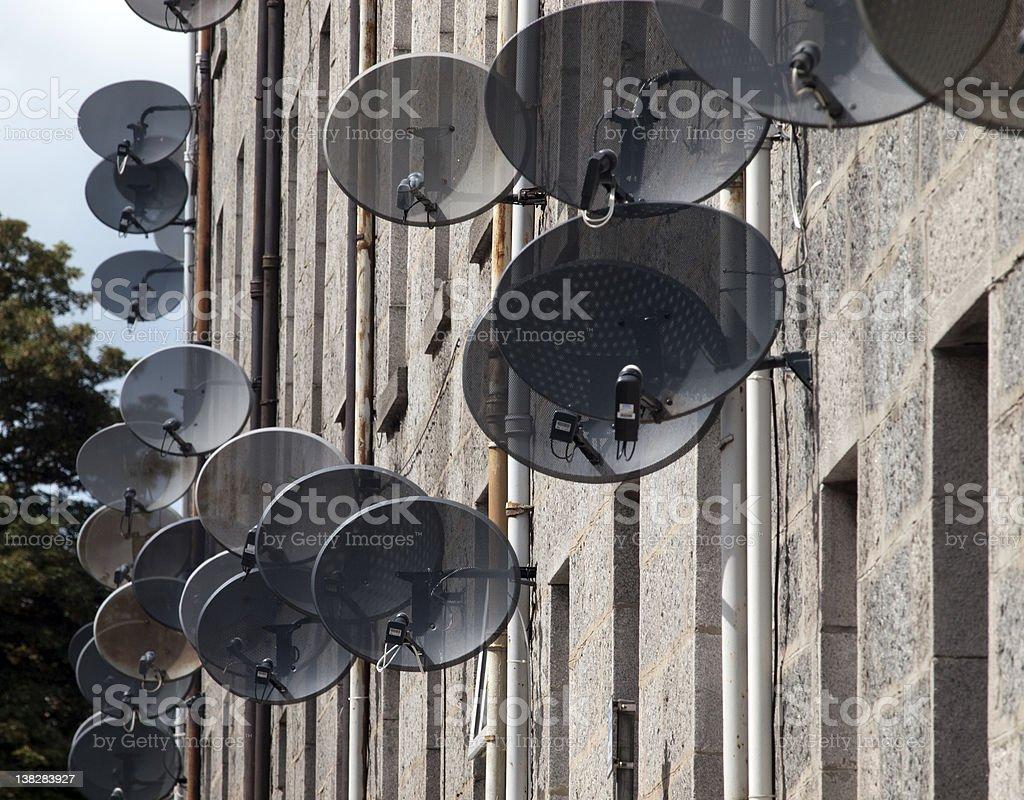 Satellite TV Dishes royalty-free stock photo