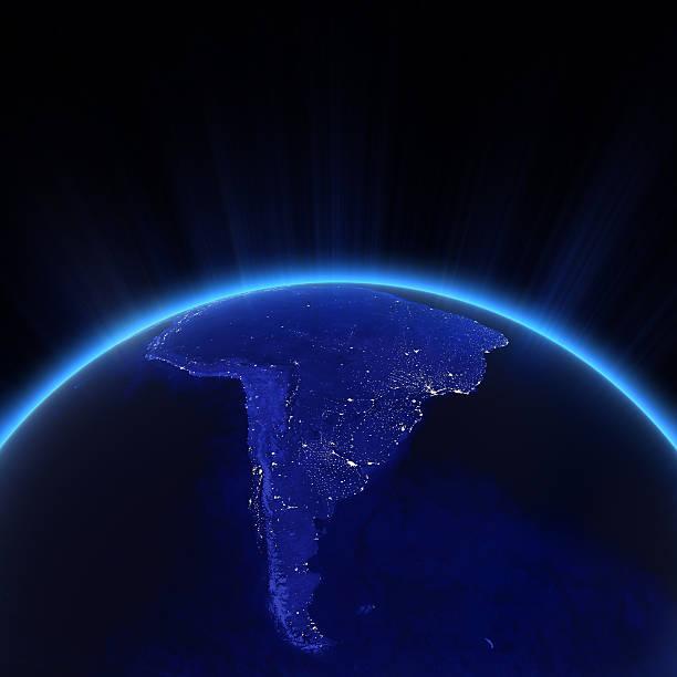 Südamerika-Lichter der Stadt bei Nacht – Foto