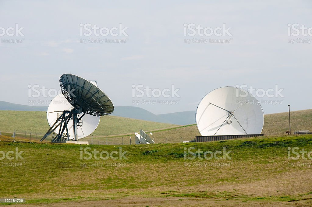 Satellites in the Country stock photo