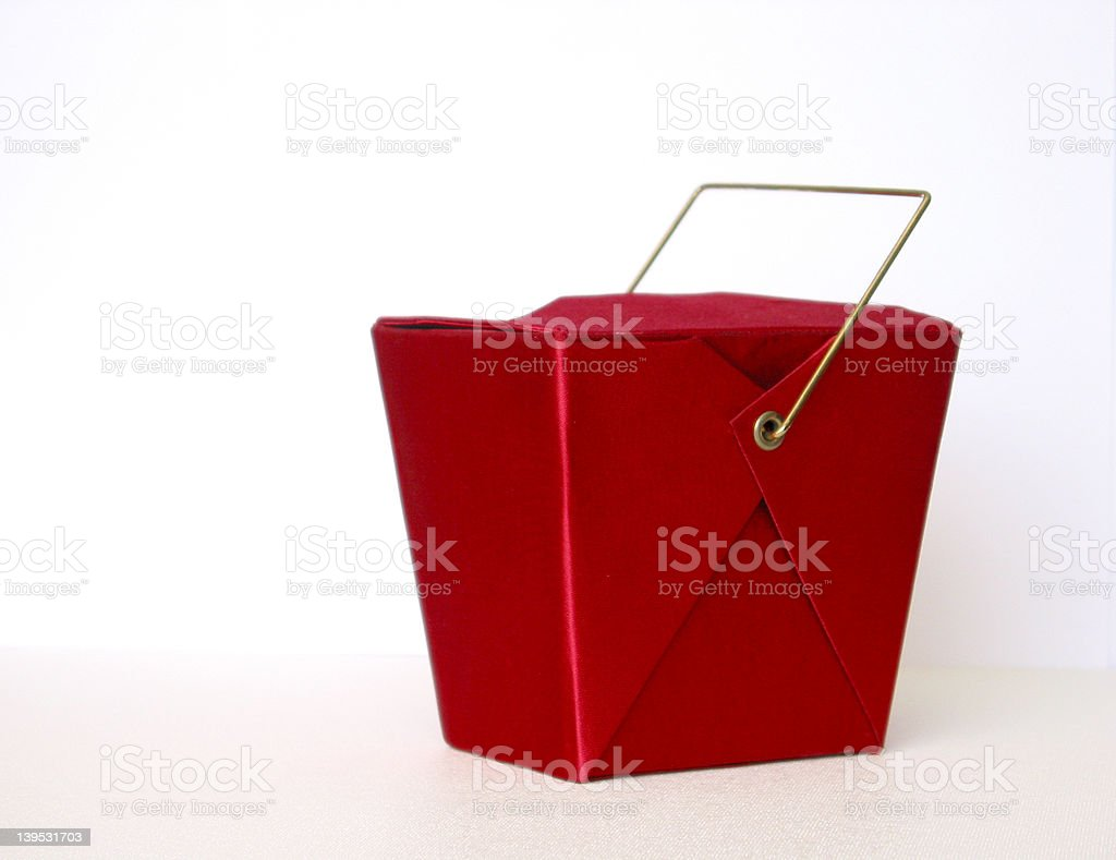 Satin Asian Box (take-out) royalty-free stock photo
