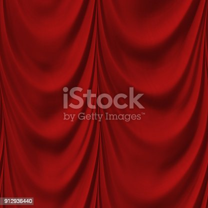 istock Satin drapery in red 912936440