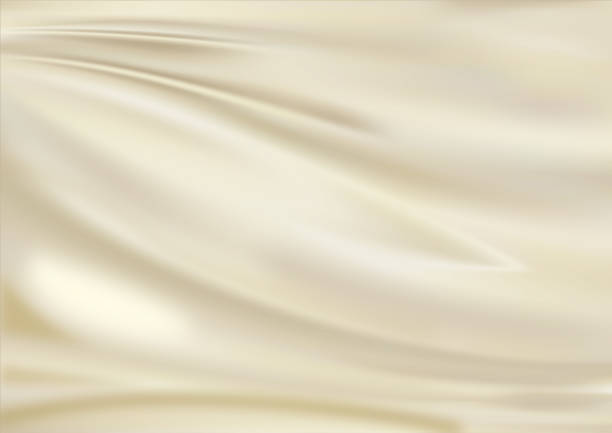 satin fabric light golden lavel 1 - textile stock photos and pictures