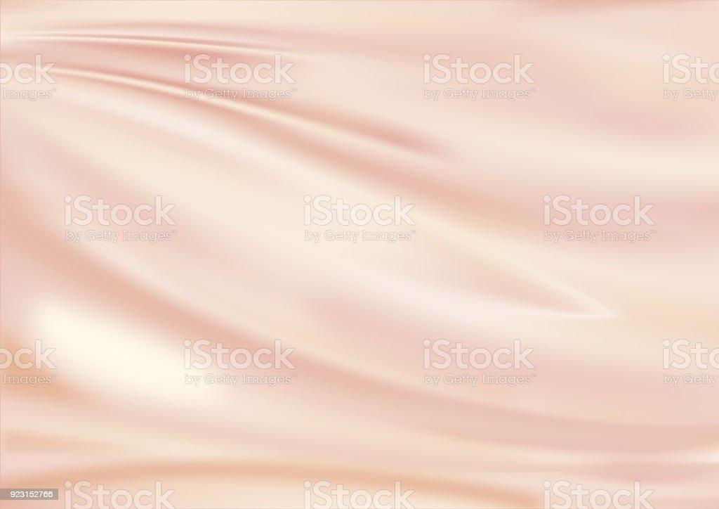 Satin fabric pink golden stock photo
