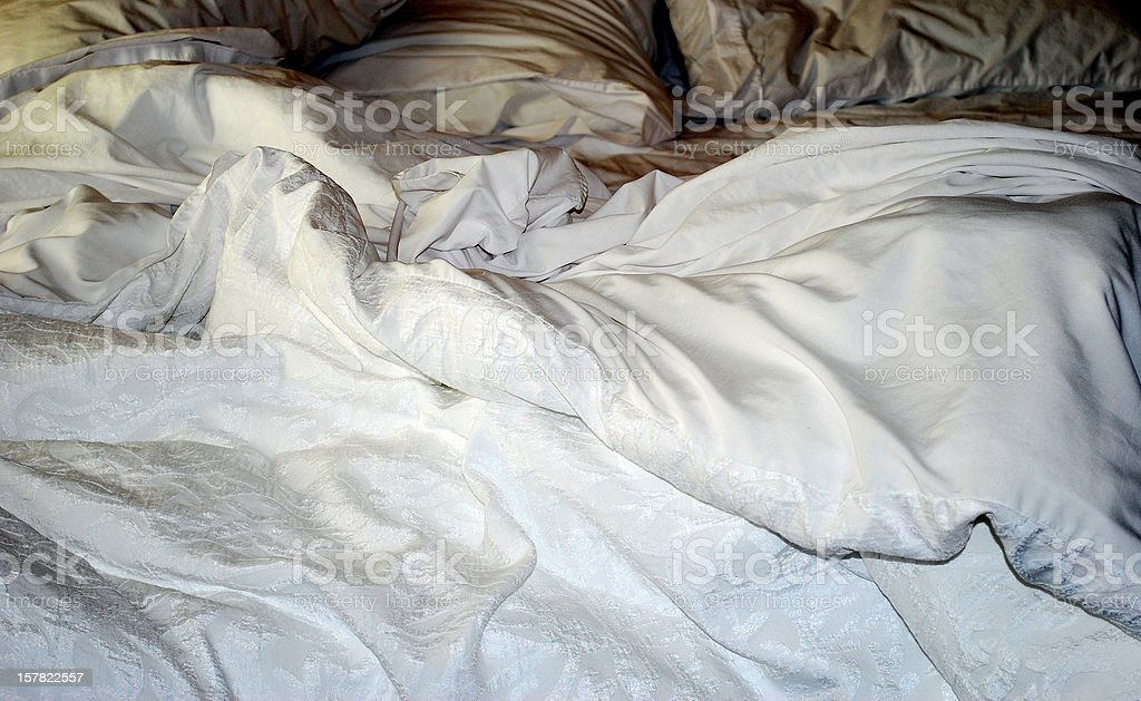 Satin sheets. stock photo