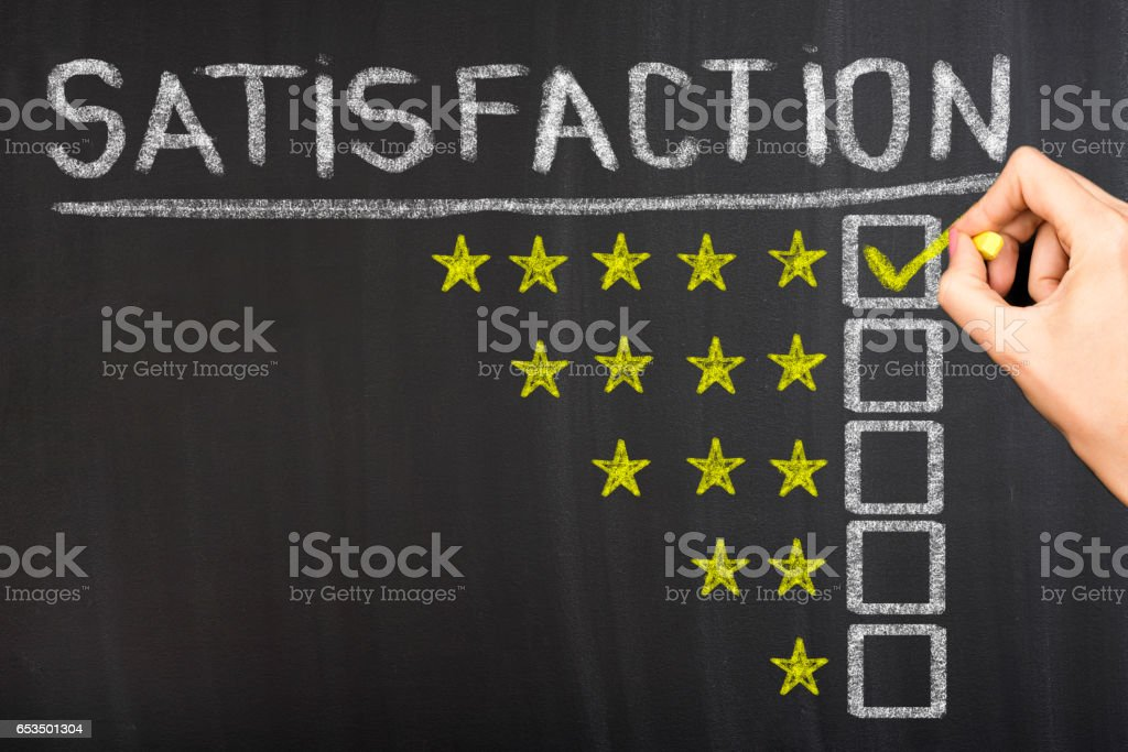 Satisfaction concept stock photo