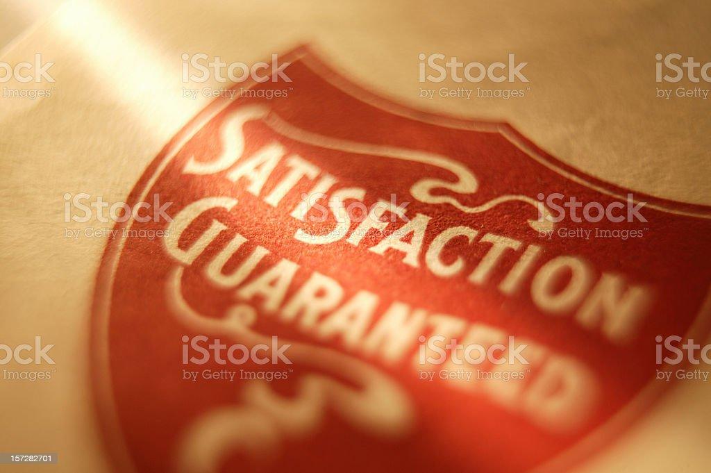 Satisfaction Guaranteed 1 royalty-free stock photo