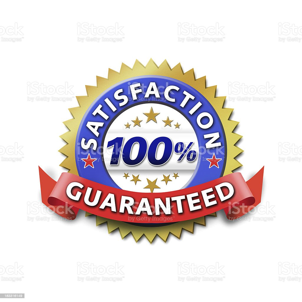100% Satisfaction guaranteed seal royalty-free stock photo